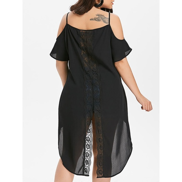 0ae6b5ce996 ✨ Plus Size Cold Shoulder Long Asymmetrical Top ✨ Boutique